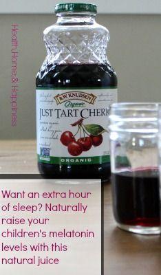 tart cherry juice to help kids sleep an hour more