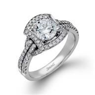 Simon G Halo 18k - White Gold Diamond Engagement Ring