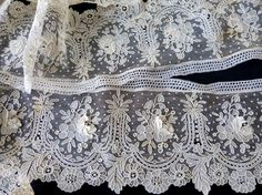 This type of lace would look great on the bottom of a cami or nightie. Point de Gaze Lace 1860