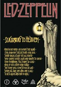 'The Hermit' from the tarot card deck, represents spiritual enlightenment. Led Zeppelin represents rock and roll excellence.