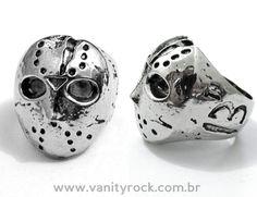 Anel Jason Sexta-Feira 13.  Um super presente!!! Rico em Detalhes.  Material Inoxidável.   Acesse nossa categoria 'Para Eles': www.vanityrock.com.br