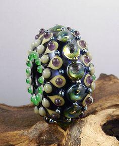 Lampwork Torus Focal Bead - Dots, dots, dots!