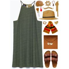 A fashion look from March 2015 featuring sleeveless dresses, flat sandals and infinity necklace. Browse and shop related looks.