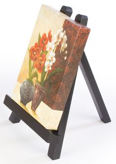 Wood Table Top Easel, Standard Tripod, 7.5 X 10   Black Displays2Go $6