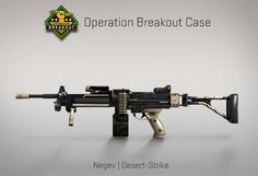 Counter-Strike Global Offensive: Operation Breakout Case: Negev Desert-Strike