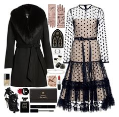 """""""#PolyPresents: Wish List"""" by douxlaur ❤ liked on Polyvore featuring Sofiacashmere, Alexis, Gucci, Dsquared2, MAC Cosmetics, Kat Von D, Chanel, Blue Nile, Kate Spade and Surratt"""