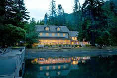 Historic Lake Crescent Lodge on the Olympic Peninsula in northwest Washington was built in 1916 and is an ideal base camp for enjoying the park, while experiencing the charm of a turn-of-the-century resort.