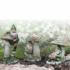 Celtic Garden Gnomes 3 Piece Set