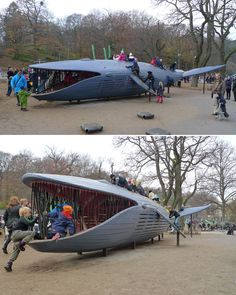 The Blue Whale at Plikta Park in Gothenburg, Sweden (designed by Monstrum) - One of the most amazing playgrounds around the world