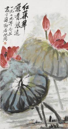 Zhu Qizhan (1892-1996)  Red lotus