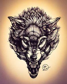 Wolf on Behance