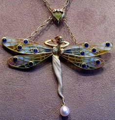 art nouveau winged fairy by e³°°°, via Flickr