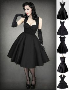 Vestido Pin Up Rockabilly Vintage Retrô (5 modelos) - Dark Mirror Store
