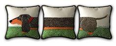 HA!  Throw Pillows - Set of 3 - Dachshund Treasures