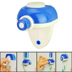 Convenient Practical Automatic Toothpaste Dispenser for Life Style-white and blue - http://ucables.com/product/convenient-practical-automatic-toothpaste-dispenser-for-life-style-white-and-blue/