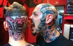 Giger Motives Organic tattoo