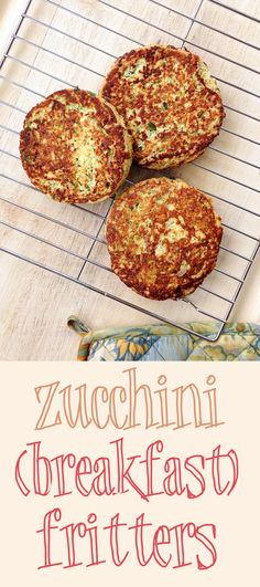 These simple zucchini fritters should be a staple of any Paleo breakfast: light, savory, and adaptable with the addition of spices or chopped fresh herbs. Zucchini Breakfast, Paleo Breakfast, Breakfast Recipes, Low Carb Recipes, Whole Food Recipes, Cooking Recipes, Healthy Recipes, Coconut Recipes, Zucchini Fritters