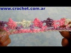 Puntilla N° 17 en tejido crochet tutorial paso a paso. - YouTube