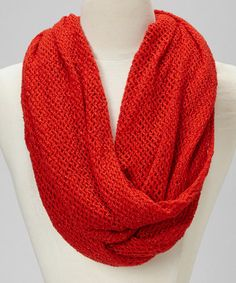 Take a look at this Red Net Infinity Scarf by Steve Madden on #zulily today!