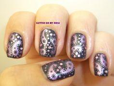 GLITTER ON MY NAILS: PAISLEY #nail #nails #nailart