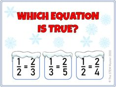 Equivalent Fractions Christmas Winter Game Google Classroom Distance Learning Equivalent Fractions, Game Google, Winter Games, Multiple Choice, Google Classroom, Math Games, Distance, Self, Student