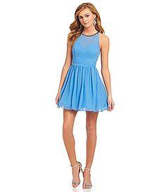 B Darlin BeadedNeckline Sleeveless Party Dress #Dillards