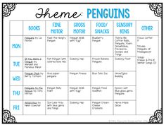School Tuesday: PENGUINS Tot School Tuesday: PENGUIN plans for your toddler or preschooler {from Mrs. Plemons' Kindergarten}Tot School Tuesday: PENGUIN plans for your toddler or preschooler {from Mrs. Daycare Curriculum, Preschool Classroom, Preschool Learning, In Kindergarten, Preschool Activities, Homeschooling, January Preschool Themes, Childcare, Preschool Winter