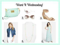 www.alittleglitter.com Want It Wednesday - Mint Addition!