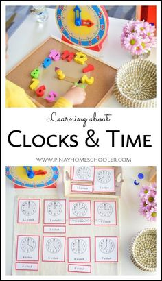 How To Introduce Clocks to 3 Years Old Learning how to read time for preschoolers and kids Math Activities For Kids, Math For Kids, Fun Math, Childcare Activities, Teacher Resources, Montessori Math, Homeschool Curriculum, Montessori Elementary, Homeschooling Statistics