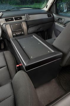 The Console Bunker and car safes is an all steel center console for firearm storage in your car or truck. Call today to get your new gun safe!