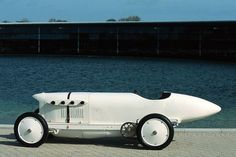 """Too cool...1911 Mercedes Benz """"Blitzen-Benz""""--    In 1911 this car set the world land speed record at Daytona Beach with an average speed of 141mph thanks to this car's 200hp engine. It has a 21.5 liter 4 cylinder. Which means that basically it's bore (185mm) and stroke (200mm) are almost equal. The engine is essentially a 22 liter square. Of the six originally built only two remain."""