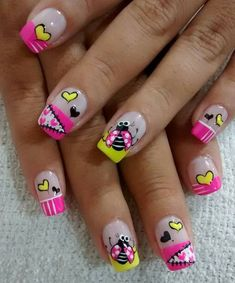 Nail Designs, Nails, Beauty, Work Nails, Templates, Simple Toe Nails, Pretty Gel Nails, Cute Nails, Pink Turquoise
