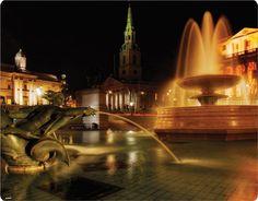 London Trafalgar Square at Night