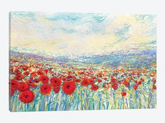 Poppies Of Oz by Iris Scott 1-piece Canvas Print