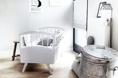 black & white nursery | Pamela Dosal via Kinderkamerstylist