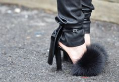 Fluffy Cape Heels by Alexander Wang love them with these pants