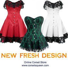 Gothic Steel Boned Corset Dress New Fresh Corset Dress - Flat 55% Off