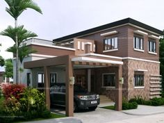 Designs for front of house entrance image of 2 storey house design with contemporary house entrance . designs for front of house entrance Double Story House, Two Story House Design, 2 Storey House Design, Two Story House Plans, Free House Plans, Best House Plans, Build Your House, Best Home Interior Design, Bedroom House Plans