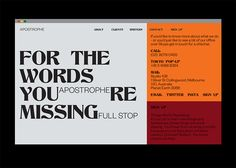 Gemma Mahoney — Identity for Apostrophe, copywriting company