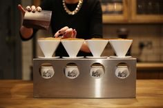 Our V60 filter system, taken by Jonathan Daniel Pryce. We use this in our Covent Garden branch and are supplied by Matthew Algie Coffee