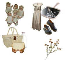 """""""picnic in abandoned asylum"""" by rabbit-hearted-baby ❤ liked on Polyvore featuring Bernie Dexter, Børn and Picnic at Ascot"""