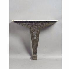 An Art Deco wrought iron console table, circa 1930