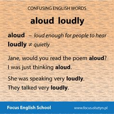 The confusing English words: aloud, loudly