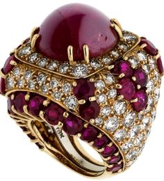 Star Ruby Ring by David Webb