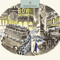 Piccadilly Circus by Eric Ravilious, from the Wedgwood Museum range by Museums & Galleries