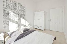 Jasna sypialnia, mieszkanie w Katowicach