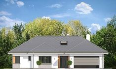 Projekt domu Willa Parterowa 2 135,75 m² - koszt budowy - EXTRADOM Four Bedroom House Plans, Family House Plans, Dream House Plans, My Dream Home, Classic House Exterior, Modern Farmhouse Exterior, Residential Building Design, House Plans With Pictures, House Outside Design