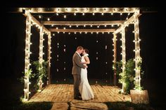 Add string lights to your nighttime ceremony.