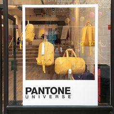 #pantone #pantoneuniverse #store #yellow #shop #windowdisplay #iglondon