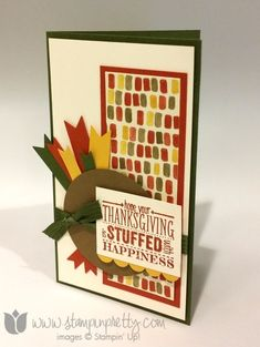 Stampin up stamping pretty turkey punch art thanksgiving holiday card ideas demonstrators blog mingle all the way